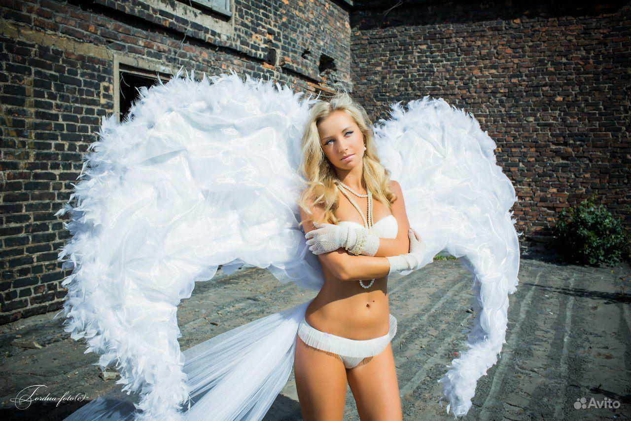 Как сделать ангельски крылья на фото