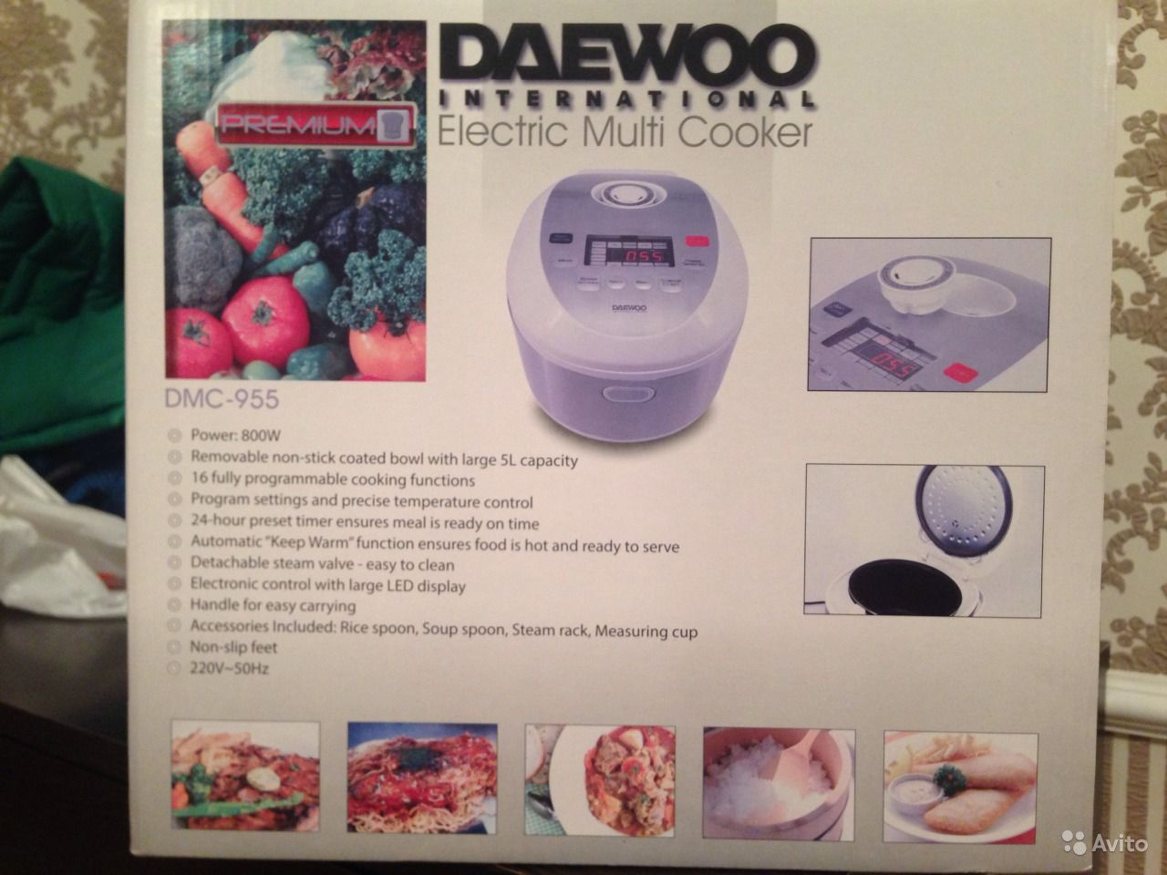 Daewoo dmc 955 книга рецептов