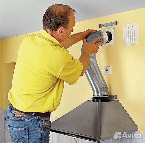 Установка вытяжки на кухни своими руками