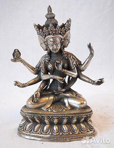 Статуэтка Ушнишавиджая серебро, Тибет 18см