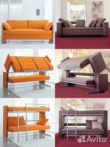 диван трансформер в двухъярусную кровать Festimaru мониторинг