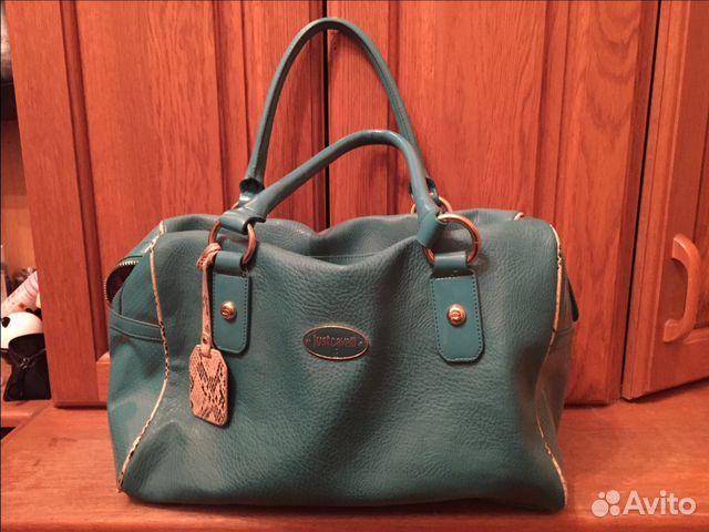 Cavalli сумка женская кожа