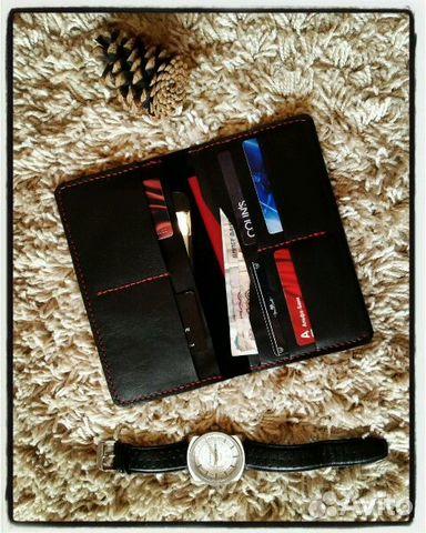 53d0644df103 Портмоне ручной работы из натуральной кожи тревел купить в ...