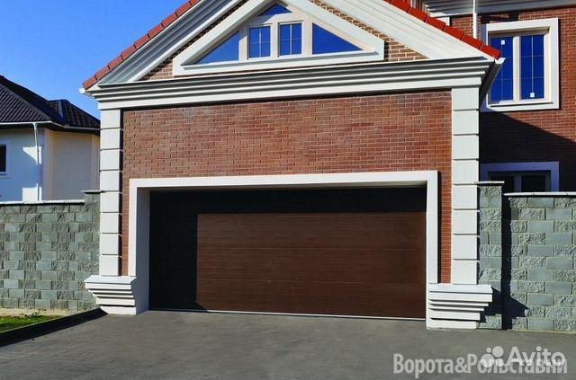купить ворота секционные с приводом гаражные в рб