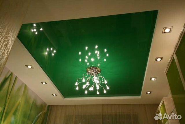 Потолок салатовый фото