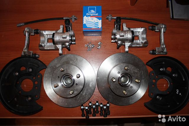 Hyundai accent задние дисковые тормоза