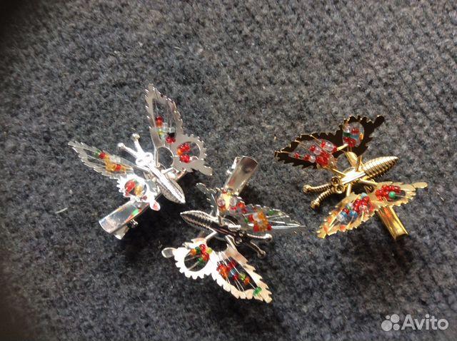 Заколка бабочка из 90 где можно купить в сургуте ткани