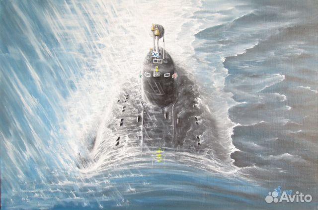 подводная лодка из глубины идет