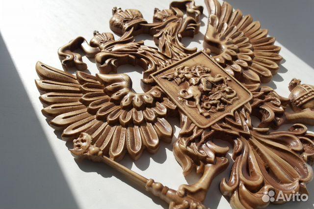 107Герб россии из дерева