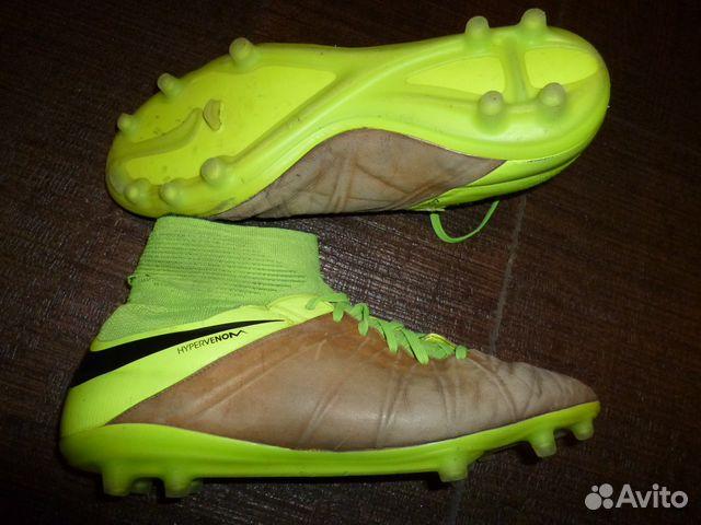Профессиональные бутсы Nike с носком, кожа кенгуру   Festima.Ru ... 3b8c4812c3b