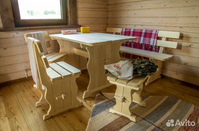 b261989b75ab Мебель для бани из осины. Столы, лавки, стулья итд купить в Санкт ...