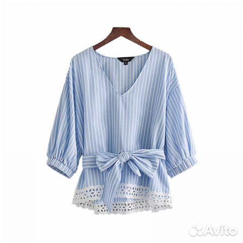 d972daa325e Летний костюм кружево   блуза и юбка в полоску S купить в Санкт ...