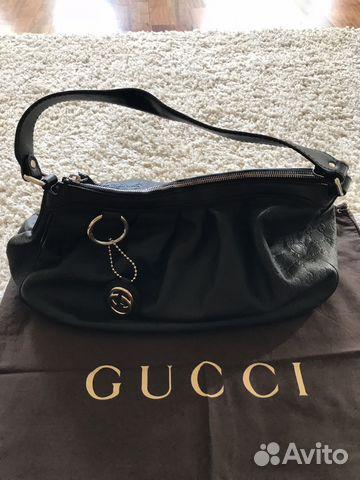 27aa548687e5 Сумка Gucci (Гуччи) оригинал кожаная чёрная купить в Москве на Avito ...