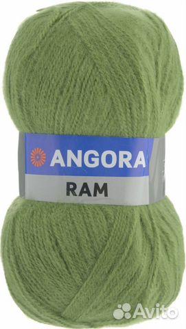 пряжа нитки для вязания Angora Ram Yarnart Festimaru мониторинг