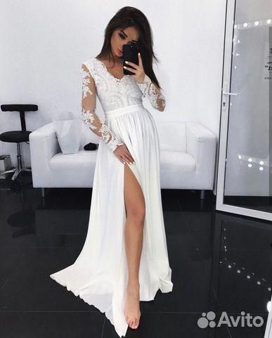e1834b91430 Белое платье в пол купить в Красноярском крае на Avito — Объявления ...