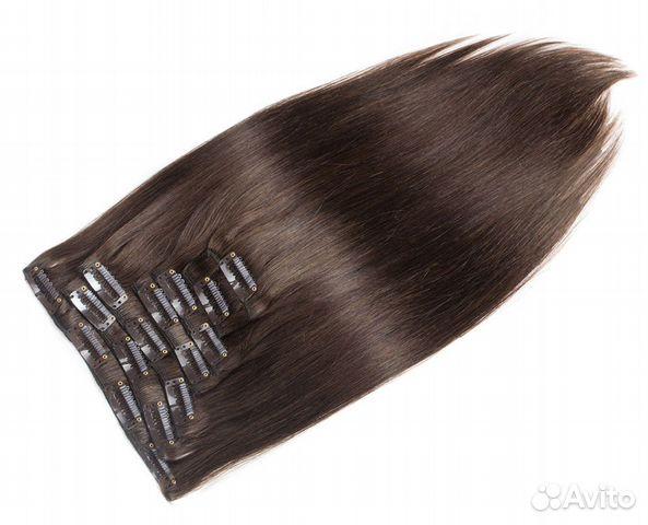 Прокат. Натуральные волосы цвет №4, 70г, 60см, 16  купить 3