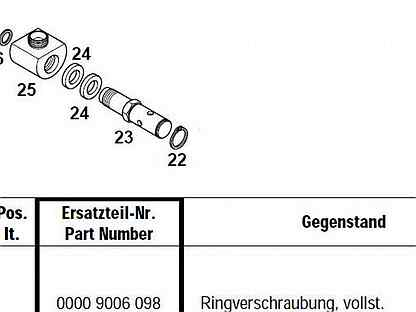 Гидрошарнир цилиндра Meiller Kipper, 00009006098
