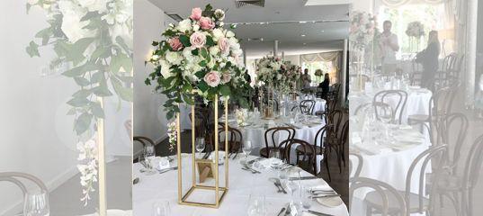 Стойки для цветов вазы подставки на свадьбу купить в Москве | Товары для дома и дачи | Авито