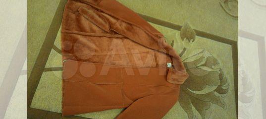 301119ec9327 Красивая необыкновенно рыжая дубленка, 48р купить в Краснодарском крае на  Avito — Объявления на сайте Авито