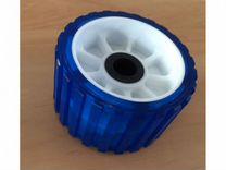 Ролик опорный L75 мм, D128/22 мм PVC синий