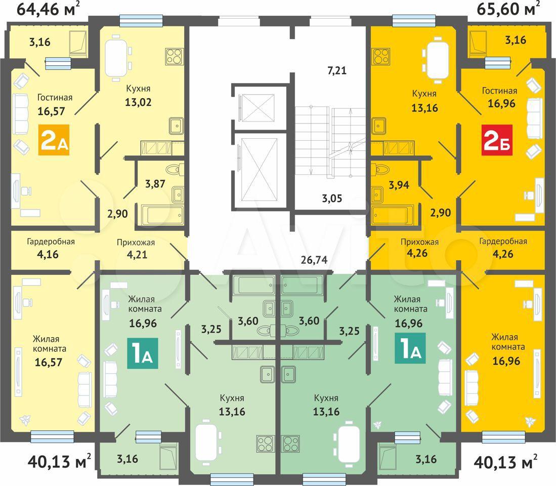 1-к квартира, 40.1 м², 3/16 эт.  89877207410 купить 4