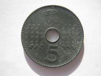 Германия 3 Рейх Рейхскредиткасса 5 пфеннигов 1940А