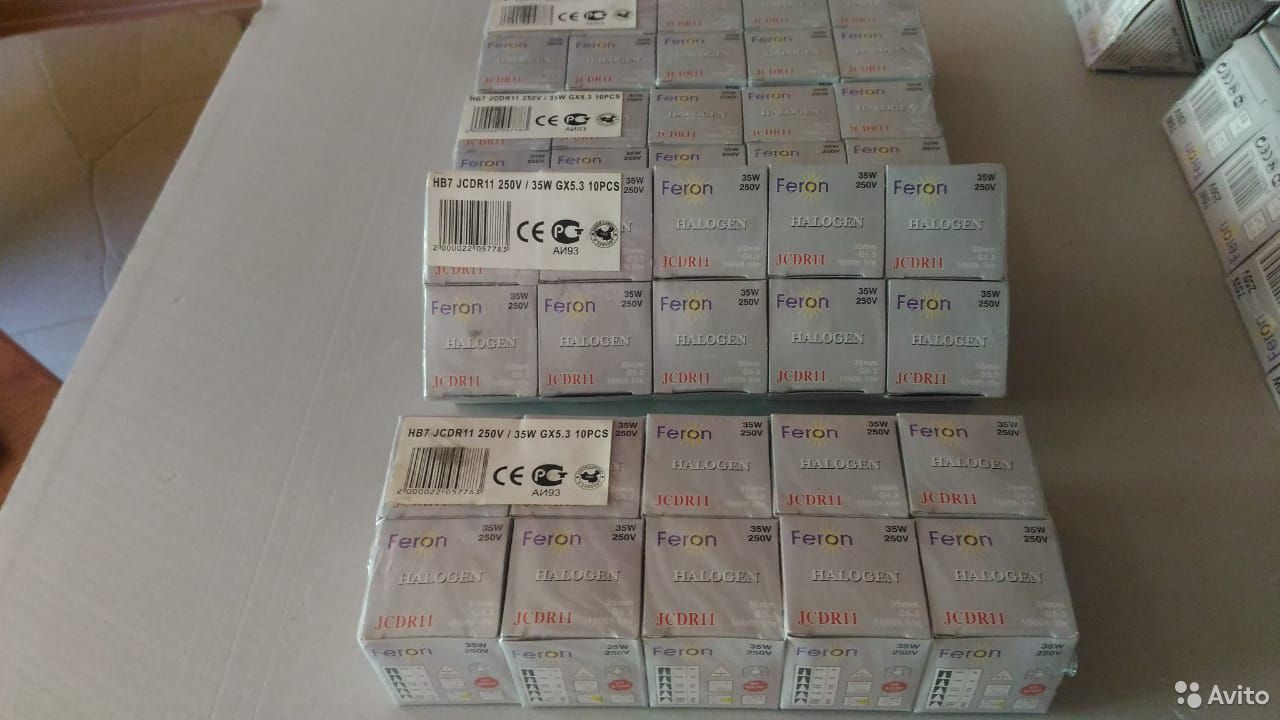 Лампа галогенная Feron HB 7 JCD R11 35W/250V GX5,3  89192052336 купить 1