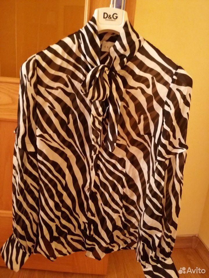 Блузка- рубашка. Шелк