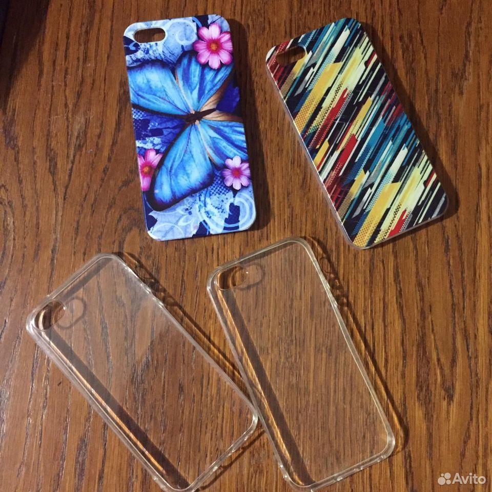 Чехолы и стекла на iPhone 5 новые