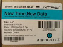 "Новый SSD диск Suntrsi S660ST 120 Гб 2.5"" SATA 3"