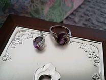 Серебряное кольцо и подвеска