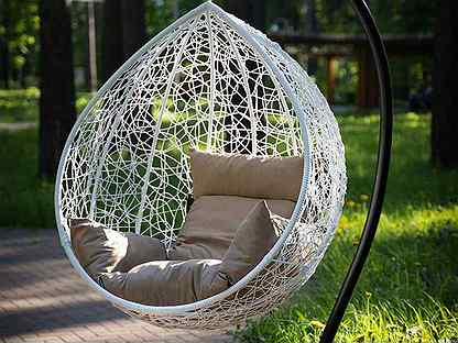 Подвесное кресло кокон с подушкой